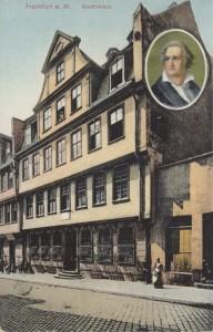 בית הולדתו של גיתה - פרנקפורט -גלויה