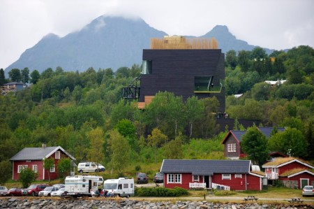 A photo taken on July 30, 2009 of the new Hamsun centre dedicated to the work of Norwegian Nobel prizewinning writer Knut Hamsun in the author's childhood village of Hamaroey. The museum was built to honour the literary standing of a writer who, years after having won the Nobel Literature Prize, fell into disgrace for his Nazi leanings. Hamsun even presented his Nobel medal to Hitler's propaganda chief Joseph Goebbels. AFP PHOTO/SCANPIX/Bjorn Erik Rygg Lunde  / AFP / SCANPIX NORWAY / Bjorn Erik Rygg Lunde