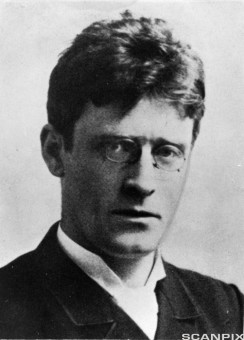 Knut Hamsun, forfatter. Foto ca. 1890.